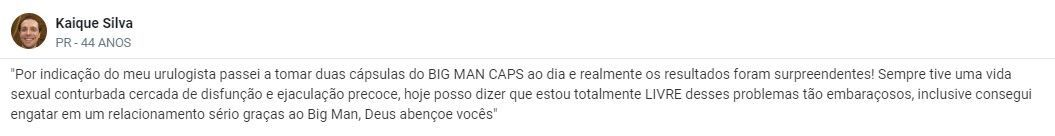 Big Man Caps Depoimentos