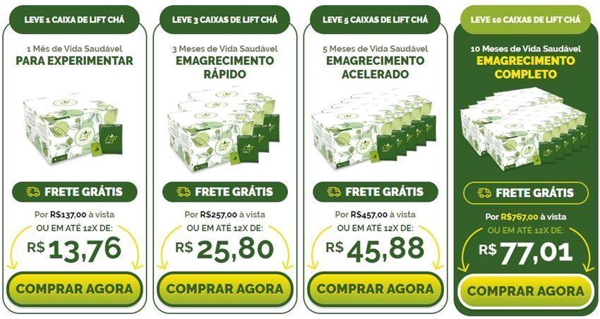 Lift chá preços